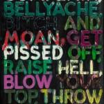 """Mel Bochner, Mel Bochner, """"Complain,"""" 2010, oil on velvet, 160 x 119.4 x 4.4 cm"""
