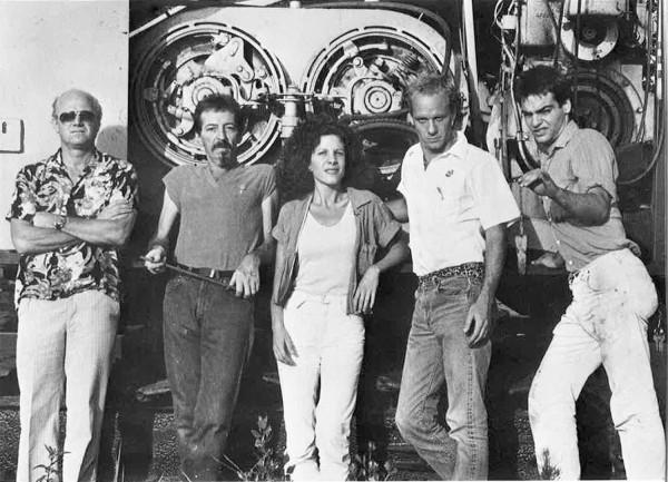 (l-r) James Rosenquist, Theo Wujcik, Jill Kahn, Gary Wilder, Michael Cantwell