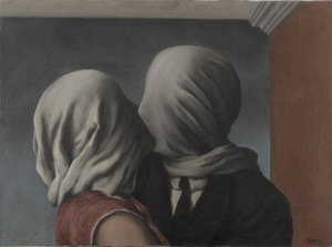 René Magritte, Les amants (The Lovers), 1928, Museum of Modern Art, New York. Gift of Richard S. Zeisler. © Charly Herscovici -– ADAGP - ARS, 2014