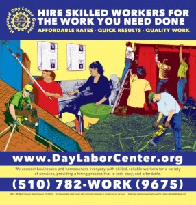 """Jesus Barraza, """"Hayward Day Labor Center."""" Barraza is one of the artists included in Mexic-Arte's latest exhibition """"Illustrating Anarchy and Revolution."""""""