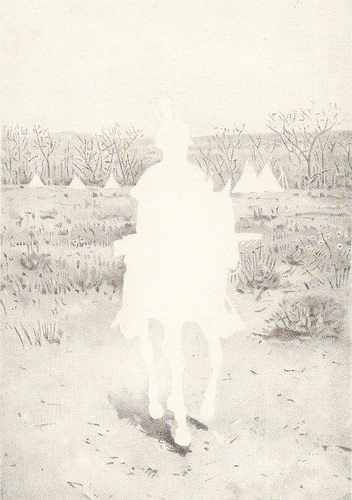 Native, Sioux Indian, 2013. Graphite on paper, 6-1/4 x 4-3/8 inches