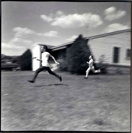 Foot race on Fuller street Fort Worth, Texas 1959. (Shot by Byrd IV at age 7)