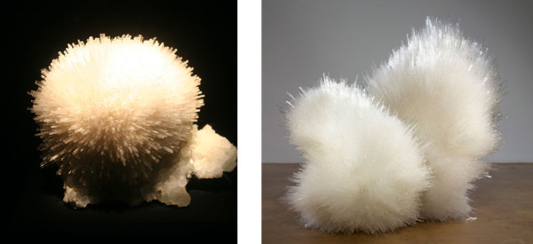 (l) Mesolite, Maharashtra, India (r) Tara Donovan, Untitled , 2012