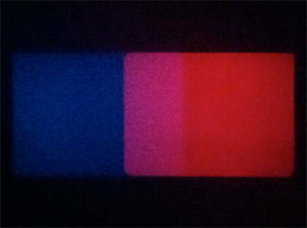 Shutter Interface by Paul Sharits, 16mm dual projection, 1975.