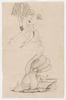 4-part Corpse drawing; Man Ray, Yves Tanguy, Joan Miro, Max Morise.