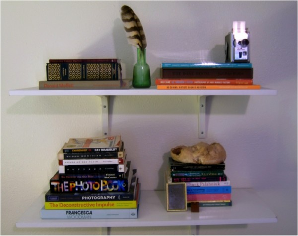 Peacock's carefully curated shelf