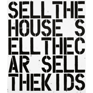 "Christopher Wool,  Apocalypse Now, 1988, Alkyd and flashe on aluminum and steel, 84"" X 72"""
