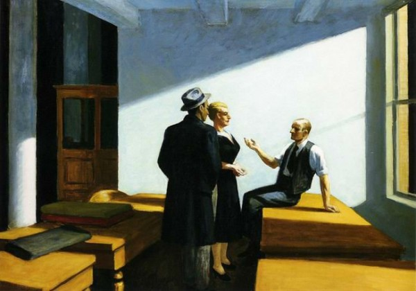 Meetings and Groups. Edward Hopper, Conference at Night, 1949.