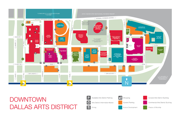 dallas arts district map