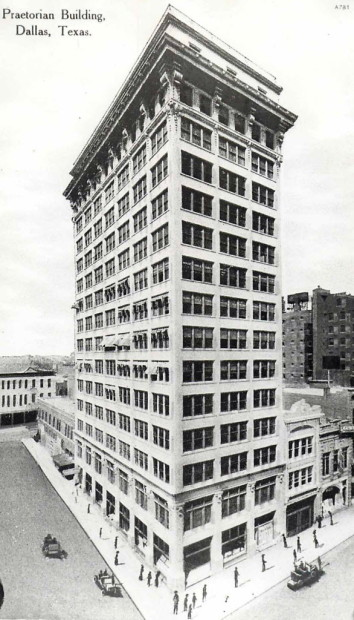 The Praetorian Building, Dallas, TX, 1909. Demolished 2012.