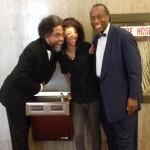 Photo-op! Dr. Cornel West visits Lauren Woods' Drinking Fountain in Dallas