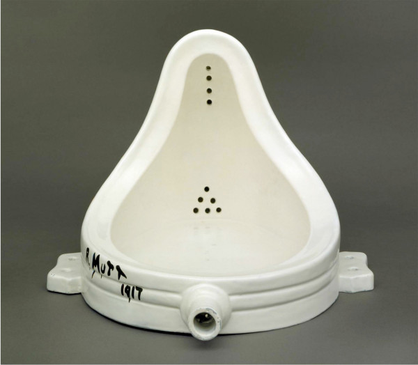 Marcel Duchamp, Fountain, 1917, replica 1964