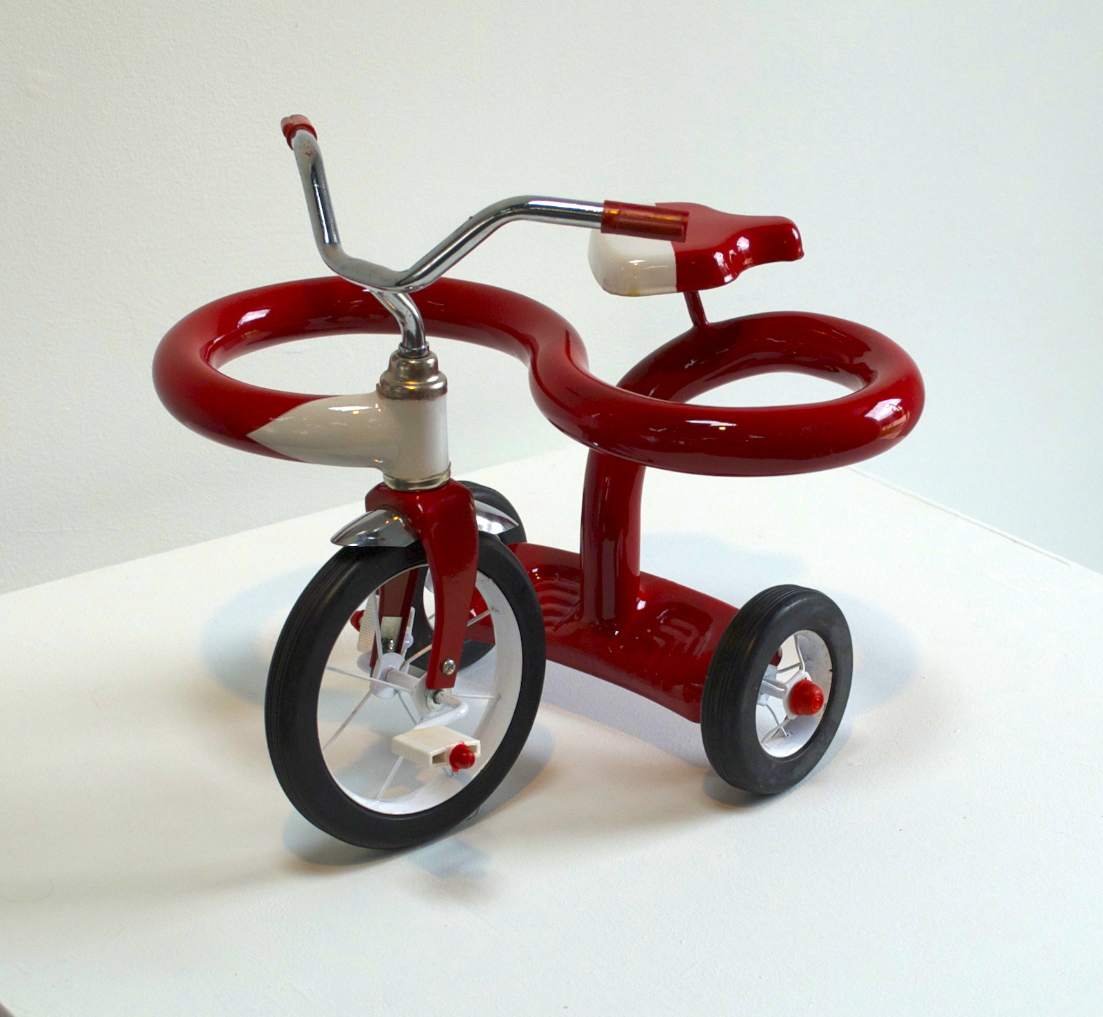 We all get a little sidetracked (mini trike) 2014, Mini-tricycle, metal, plastic, automotive paint, 11