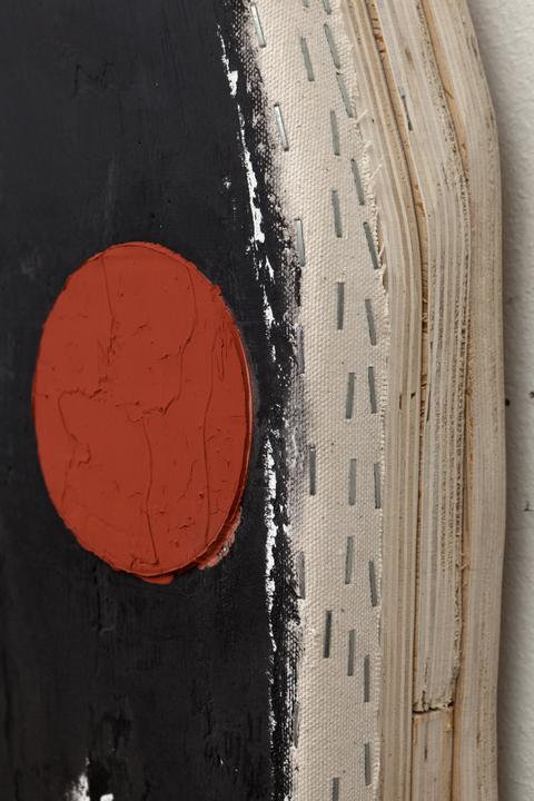Otis Jones, <em>Black with 4 Circles</em>, 2013. (Detail)
