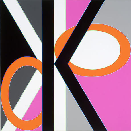 Aaron Parazette, <em>Kook</em>, 2007. Acrylic on canvas, 36 x 36""