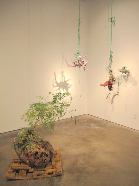 Untitled pod and hanging  assemblages, all untitled