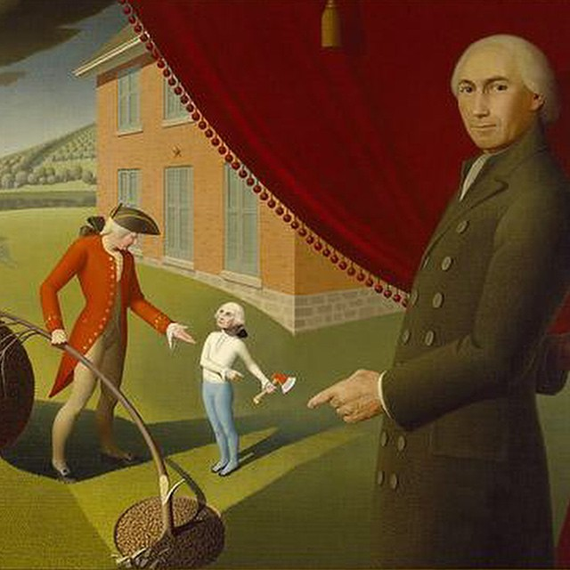Grant Wood Parson Weems Fable 1939 theamoncarter