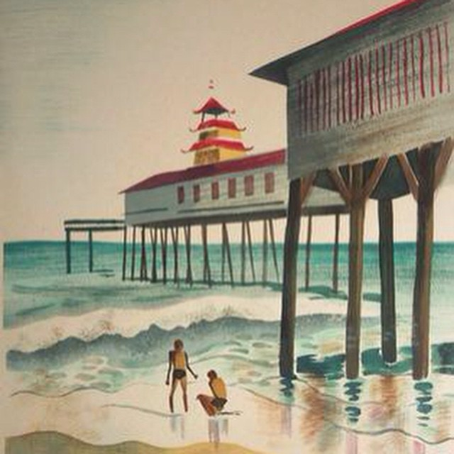 Elizabeth Walmsley On The Beach  William Reaves Fine Art