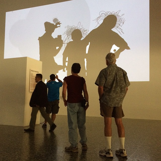 Philip Worthington Shadow Monsters interactive installation MFAH More summer funhellip