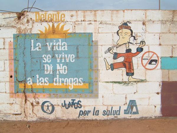 A Mexican anti-drug mural. Photo: Chris Martin, via Flickr.