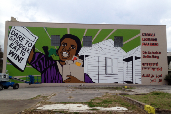 Otabenga Jones and Associates, The People's Plate, 2014, Mural, from blog.creative-capital.org