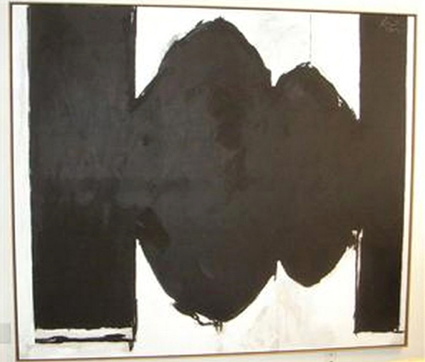 Robert Motherwell, Elegy to Spanish Republic #134 (1976). Courtesy the Elkins Collection.
