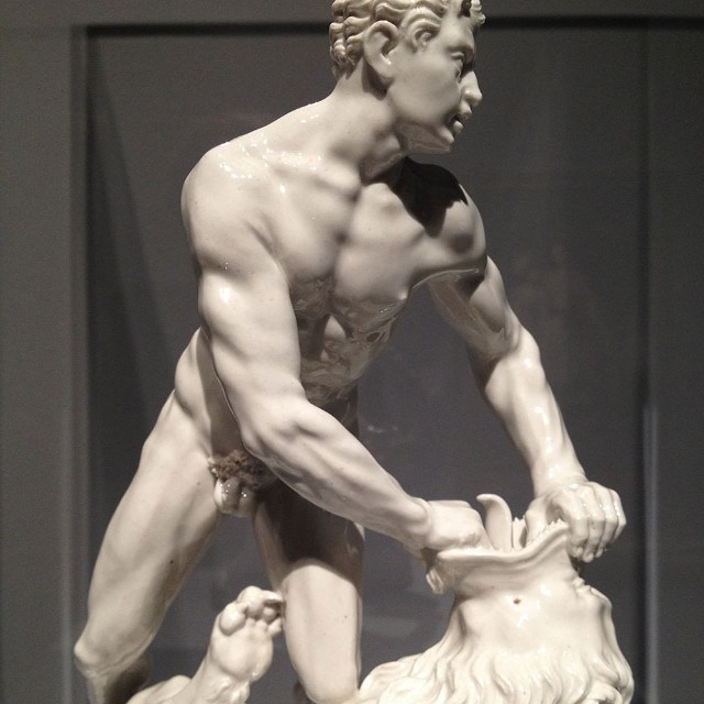 Hercules & the Nemean Lion, c.1775 German porcelain @mfah