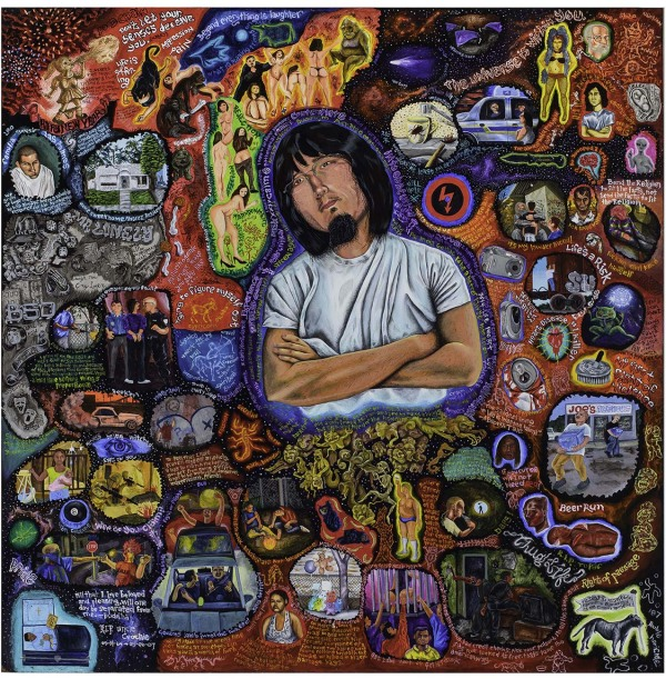 Albert Alvarez I am Albert's Hard Times, 2007 acrylic on panel, 48 x 48 in. San Antonio Museum of Art, purchased with funds provided by an anonymous donor 2010.21 Photo: Peggy Tenison