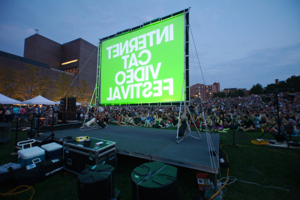 Photo by Gene Pittman, Courtesy Walker Art Center. Internet Cat Video Festival at Walker Open Field, 2012