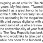 Jed Perl, Art Critic for The New Republic, Resigns in Protest After 20 Years