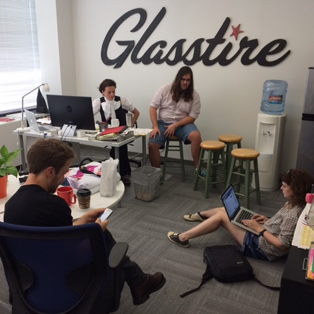 Working on the Fall Preview at Glasstire HQ