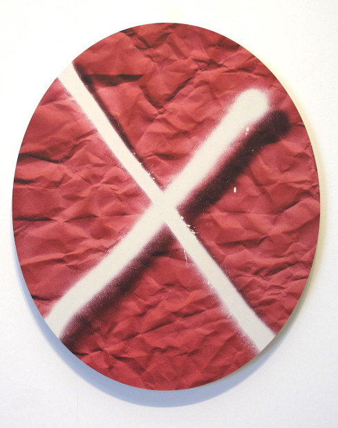 X on pink, 2015