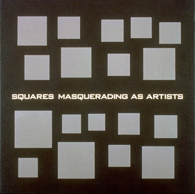 scott grieger, squares masquerading as artists