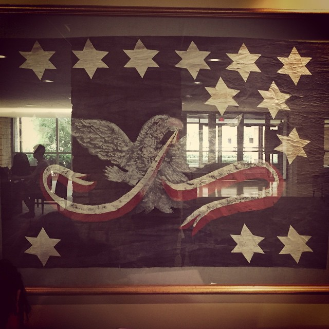 1794 Whiskey Rebellion flag at Texas A&M