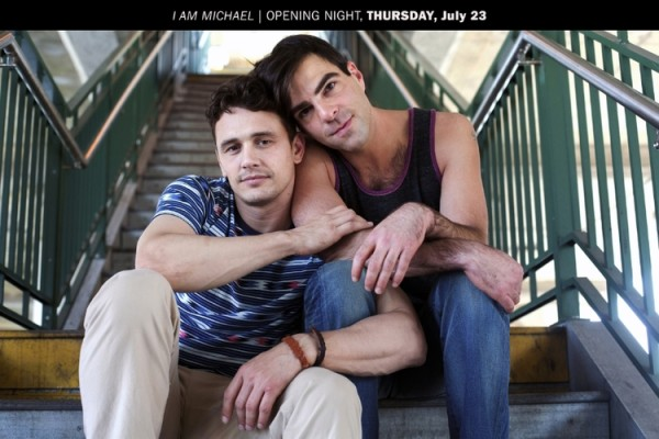 James Franco and Zachary Quinto in I am Michael (2015, 98 minutes)