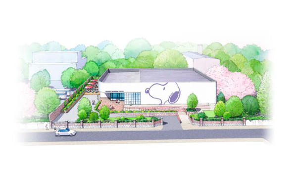 Rendering of the Snoopy Museum Tokyo. Photo: courtesy the Snoopy Museum Tokyo.
