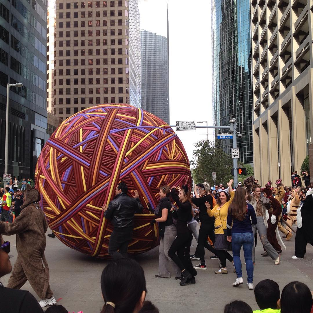 Happy Thanksgiving from this huge yarn ball