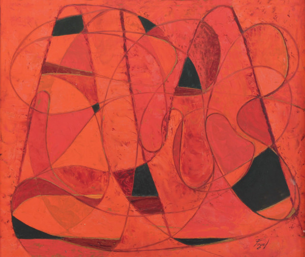 Red and Black, c. 1951, oil on Masonite