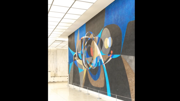 The Challenge of Space, (ca. 1964) Federal Building Mural, Fort Worth, Texas