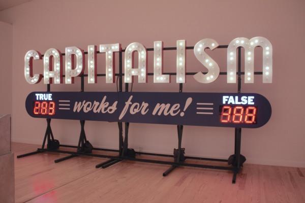 Steve Lambert, Capitalism Works for Me! True/False, 2011