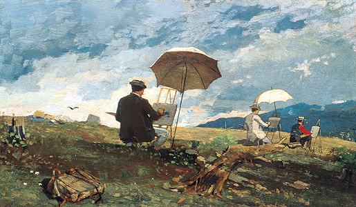 Winslow Homer: Artists Sketching in the White Mountains, 1868