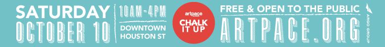 Artpace Chalk it Up 2015