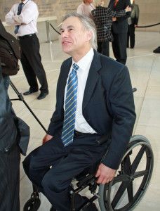 Gov Abbott at the Meyerson Symphony Center in Dallas. Image via mysweetcharity.com