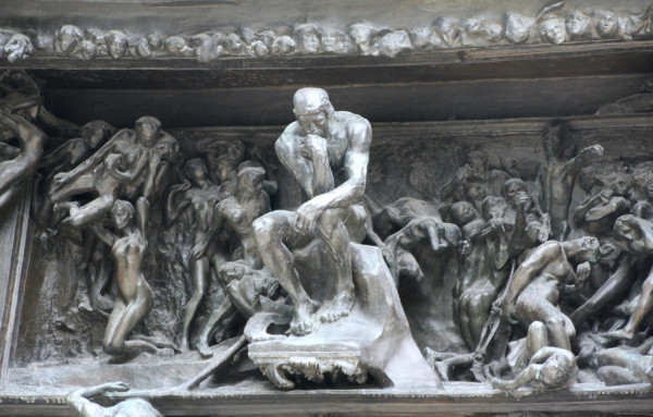 the thinker in the gates of hell
