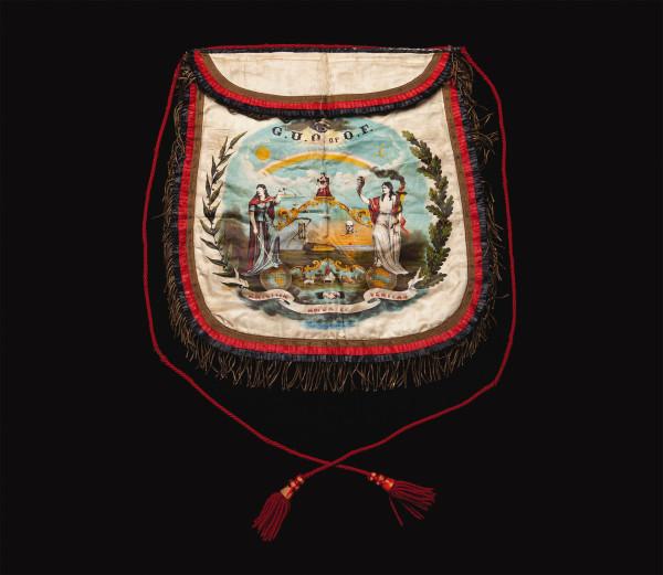 Grand United Order of Odd Fellows apron, ca. 1880