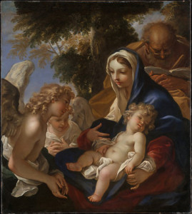 The Holy Family with Angels, Sebastiano Ricci
