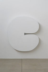 "Ellsworth Kelly's ""White Form,"" from 2012; painted aluminum. (Image via NY Times)"