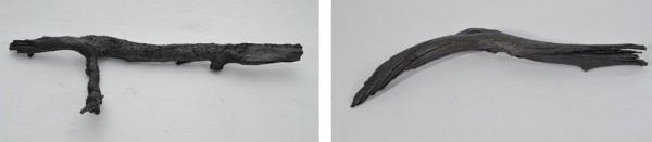 M1 Garand Semi Auto Rifle, 2015, plastic, graphite powder, 8 x 24 x 1 1/2 in. Flintlock Pistol, 2015, plastic, graphite powder, 5 x 16 x 1 1/2 in.