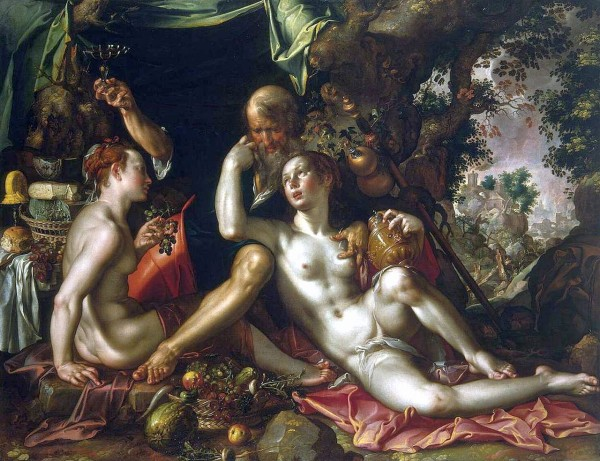 Joachim Wtewael, Lot and His Daughters, 1600