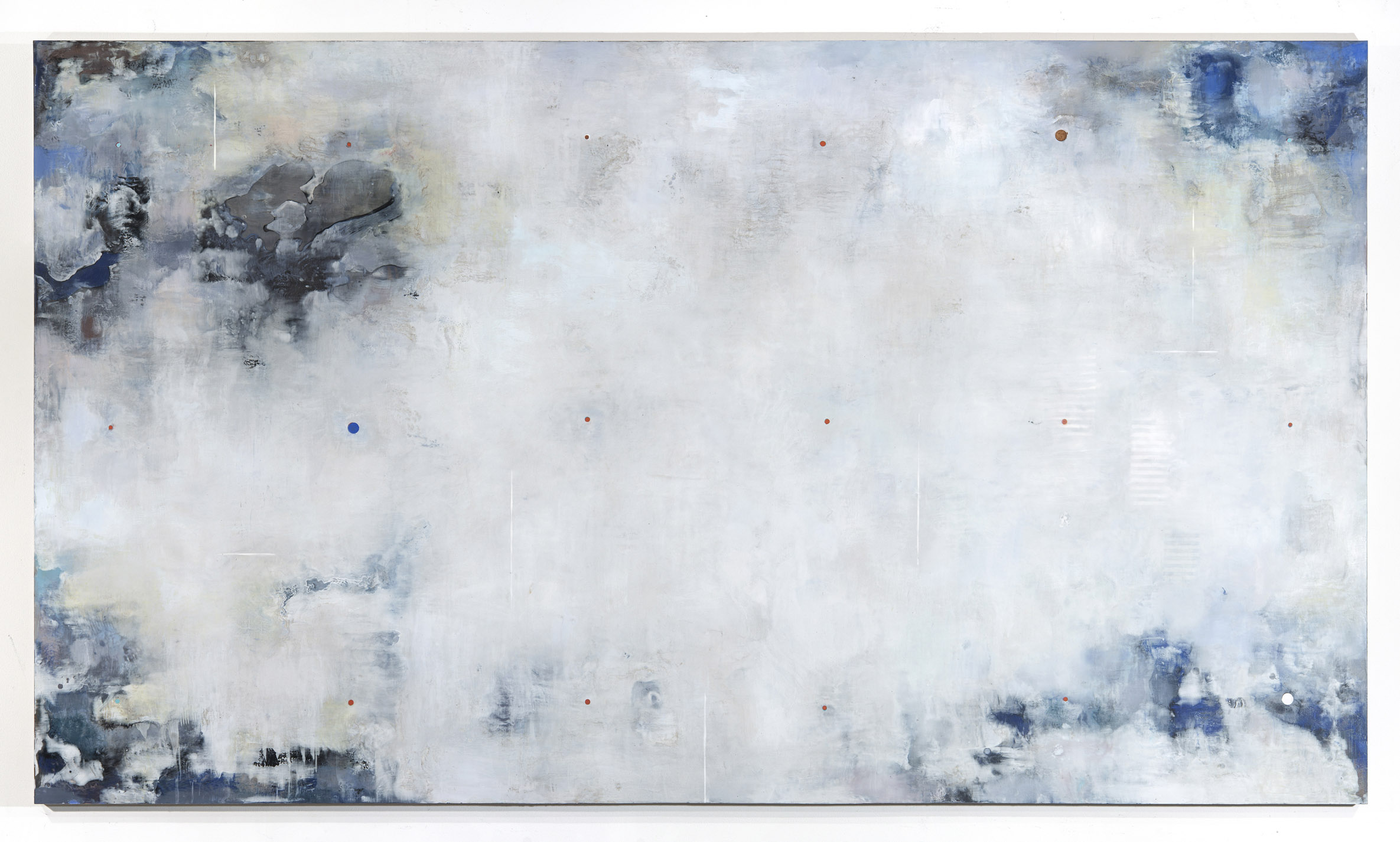 Dust Stories (Echoes), 2015. Wax, resin and pigments on birch panel, 48 x 84 in.